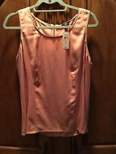 Ann Taylor Women's Silk Peach Blouse SIZE 14 NEW WITH TAGS