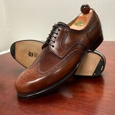 Vass Budapest Hand Welted Wingtip Whiskey Horween Shell Cordovan EU 43.5 US 10.5