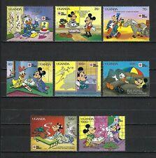 New listing Disney-Uganda 1991 Sc#888-95 Characters in Japan-Phila Nippon '91 Mnh Set $15
