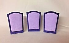 Set of 3 Pendant Stands - Necklace Jewellery Display - Lilac & Soft Purple Suede