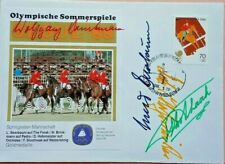 SOUTH KOREA 1988 OLYMPIC GAMES COVER SIGNED BY GERMAN EQUESTRIAN TEAM