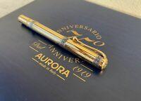 Penna Aurora 75° Anniversario limited edition gold 18k silver  fountain pen