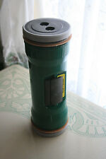 "GREEN Bank Pharmacy Drive Through Vacuum Tube Canister 10 1/2"" X 3 3/4"""
