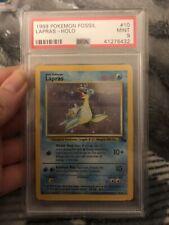 PSA 9 Pokemon Card 1999 Lapras Fossil Holo