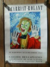 Affiche Exposition G. CABRIAT-ROLANT Galerie des Capucines 1965