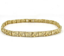 "12.50Grams 5.5mm 8"" Mens 10k Yellow Gold Nugget old School Hip Hop Bracelet"