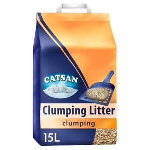 15L Catsan Clumping Cat Litter 15 Litres (3 x 5L)