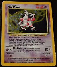 Holo Foil Mr. Mime # 6/64 Error Missing Symbol Misprint Jungle Set Pokemon NM