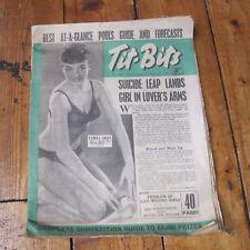 Tit Bits Magazine Vintage Pin Up Football Pools Pulp Stories 1953 Free UK P+P