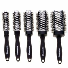 Denman Squargonomics Barrel Crimped Brush Set 5x Brushes Black & Silver