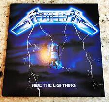 Metallica/Ride The Lightning 1985 Elektra LP Vinyl EX Cover EX+ Very Rare