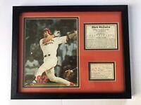 RARE 1998 MLB MARK McGWIRE 70 HOME RUNS HR #62 MATTED & FRAMED SPORTS ILL
