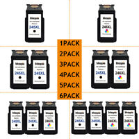 Lot #PG-245XL CL-246XL Ink Cartridges for Canon Pixma MG2525 TS202 MX490 MX492