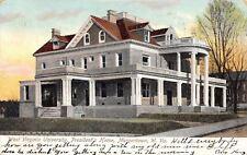 Morgantown WV~West Virginia University~President's Home~1906 Postcard