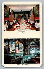 Louisville Kentucky KY Henry Clay Hotel Beaux Arts Lounge Postcard 1950s