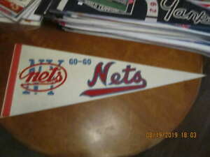 1970's Go Go New York Nets ABA white Pennant