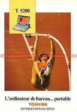 TOSHIBA T5200 T 5200 Ordinateur Portable Documentation PublicitéVintage