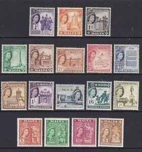 Malta - SG 266/82 - m/m - 1956/8 - 1/4d - £1
