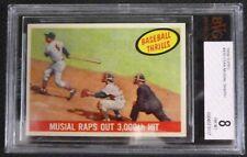 1959 Topps Stan Musial Baseball Card #470 Beckett BVG Grade 8 NM-MT 3000th Hit