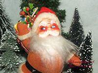 ANTIQUE 40's SANTA CLAUS FIGURE HARD PLASTIC CHRISTMAS  SANTA