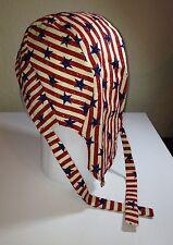 Stars & Stripes Skull Cap / Doo Rag w/Cool Max Lining