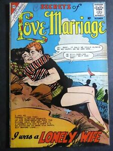 Secrets of Love and Marriage #22 ~ (1960 Charlton) I Was a Lonely Wife! ~ GD/VG