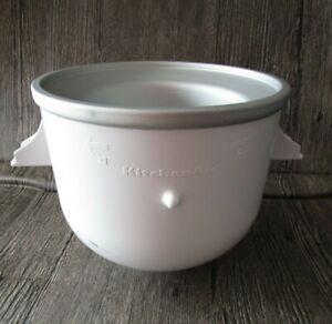 KitchenAid KICA0WH 2qt. Ice Cream Maker Attachment BOWL ONLY PART #9707962
