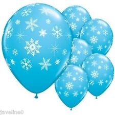 5 Ballon Disney Latex Bleu Reine des Neiges Flocon Frozen Bapteme Noël Anniversa