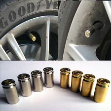 4x Valve Novelty Bullet 9MM Gold/Silver Dust caps Car Van Bicycle Wheel Tyre