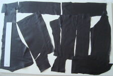 BLACK LEATHER REMNANTS-  #3149 -  CRAFTS, LARP, REPAIRS, ELBOW PATCHES