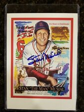 "Stan ""The Man"" Musial 6x8 print Authenticated Autograph"