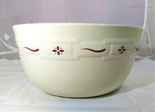 Longaberger Extra Large Serving, Mixing Bowl or Roaster, Woven Traditions, Red