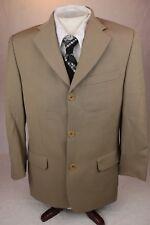 Men's BACHRACH ITALY 3-Button Sport Jacket Light Brown 36S 94% Wool Blend