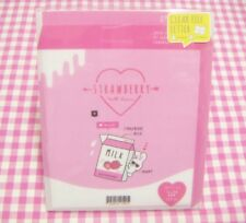 KAMIO JAPAN / Strawberry Milk Bunny Clear File Letter Set  / Japanese Stationery