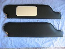 1969 camaro HT sun visors with vanity mirror black perforated