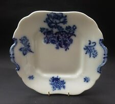 ANTIQUE MINTON BLUE AND WHITE CAKE PLATE - c. 1820s