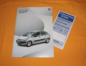 Citroen Xsara Picasso 2000 (CH) Prospekt Brochure Catalog Depliant Prospecto