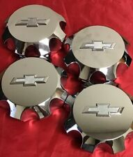 FOUR USED Chevrolet Silverado 2500 chrome wheel center hubcap OEM CAP 4372-4375