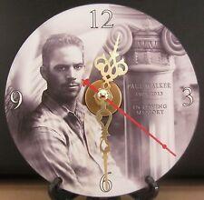 Brand New In Loving Memory Paul Walker CD Clock Black & White  Nice!!