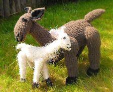 Las instrucciones impresas-Madre E Hijo llama Toy Animal Tejer patrón