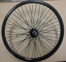"BLACK 20"" bmx bike REAR wheel Alex Y303 48H Alloy 14mm axle BLACK REAR WHEEL"