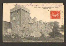 SAINT-SYMPHORIEN-sur-COISE (69) Dépot de Pavés au CHATEAU de PLUVY en 1908