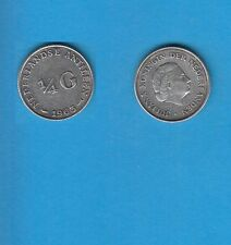 § Antilles Néerlandaises   0,25 Gulden argent 1963
