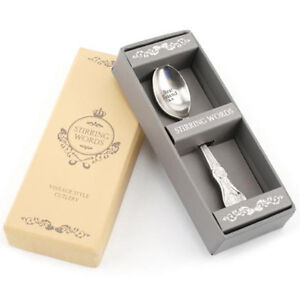 STIRRING WORDS SENTIMENTAL *BEST FRIEND XX* SMALL SPOON GIFT BOXED RT779