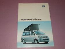 VOLKSWAGEN California camping-car brochure catalogue - édition 09/2005 Français