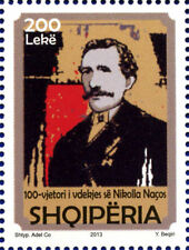 Albania 2013. The 100th anniversary of Nikolla Naço´s death. Set MNH