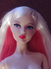 BARBIE DOLL NUDE - 'HELLO KITTY' - BLOND HAIR RED UNDERNEATH - STUNNING BEAUTY