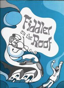 """Zero Mostel    """"Fiddler on the Roof""""    Souvenir Program   1971    TOUR"""