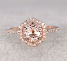 Women Ring In Solid 925 Silver 1.20 Ct Off White Moissanite Engagement Promise
