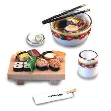 Reutter Porzellan Sushiset / Japanese Sushi Set Puppenstube 1:12 Art. 1609/8